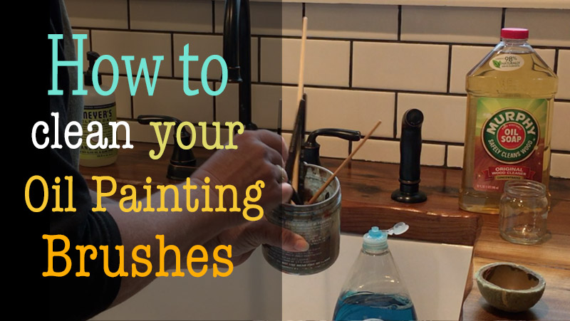 How to clean your oil painting brushes properly, keeping them soft and healthy.